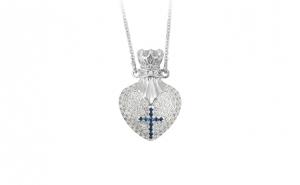 Colier Luxury Heart Cross