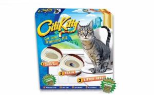 Kit special pentru dresarea pisicilor la toaleta