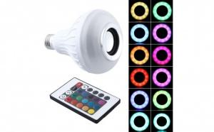 Boxa tip bec LED, cu bluetooth si jocuri de lumini