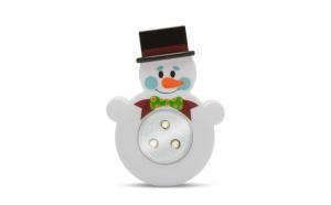 """Lampă de veghe cu buton, model """"Om de zăpadă"""""""