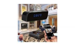 Ceas cu camera spion Full HD 1080p, iP, WiFi si senzor de miscare