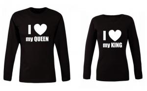 Set de bluze negre pentru cupluri I
