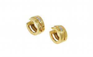 Cercei din aur 14K cu diamante