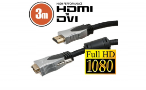 Cablu DVI-D / HDMI • 3 m Profesional