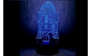 Lampa led 3D ROBOT R2-D2 STAR WARS