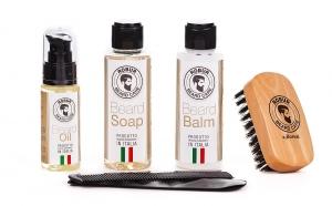 Set ingrijire barba, complet, 100% Natural, 5 buc, fara Parabeni sau PEG, made in Italy