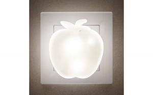 Lumină de veghe model măr (alb cald)