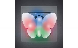 Lumină de veghe model fluture (multicolor)