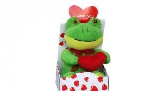Animal de Plus cutie cu inimioare, un cadou perfect pentru indragostiti la un pret promotional de 33 RON