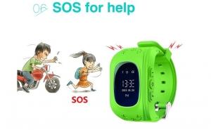 Ceas inteligent copii cu GPS, apel SOS, urmarire si localizare