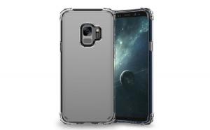 Husa Samsung Galaxy S9 Flippy Tpu Antisoc Negru Transparent