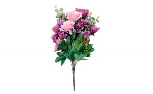 Flori artificiale decorative, roz,Trandafiri, 55 cm