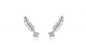 Cercei din argint 925 Feather Stud