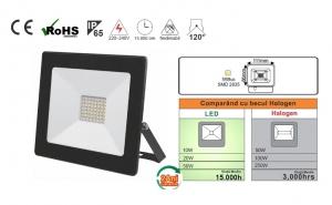Nou! Proiector de 50W cu Led SMD Tablet, design atractiv ultra-slim, consum redus si putere mare de iluminare , grad de protectie IP65, raza de actiune 120 grade, garantie 2 ani, la doar 149 ron in loc de 239 ron