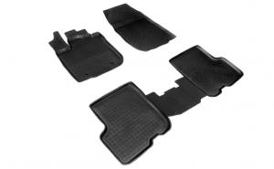 Covoare/Covorase/Presuri cauciuc stil tip tavita DACIA Logan dupa II 2012-prezent (5 bucati)  - SEINTEX