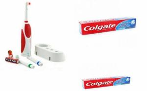 Periuta de dinti electrica cu 6800 rotatii/min + Cadou o pasta de dinti + baterii incluse