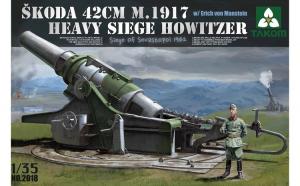 Macheta Takom, Skoda 42 cm M.1917 Heavy