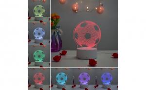 Lampa de veghe3D, Minge, 7 culori