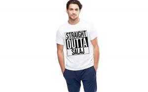 Tricou alb barbati - Straight Outta Salaj