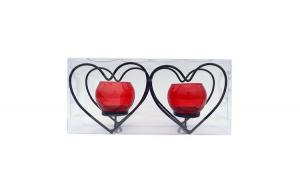 Suport lumanari  in forma de inima cu 2