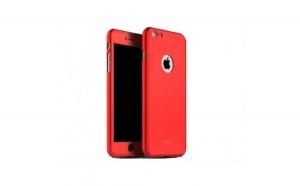Husa Apple iPhone 7 IPAKY Full Cover 360 Rosu + Folie Cadou