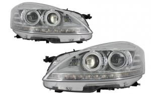 Set 2 faruri LED compatibil cu Mercedes W221 S-Class (2005-2009) Facelift Look