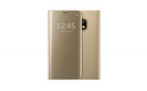 Husa Samsung Galaxy J5 2017 Flippy Flip Cover Oglinda Auriu