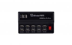 Fast Charger USB cu 12 porturi si 12A