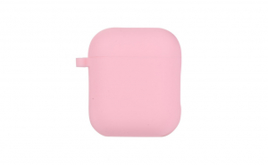 Set husa roz plus cordon antipierdere, silicon, pentru casti airpods