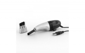Mini aspirator pentru tastatura  conectare USB  lanterna  perie curatare