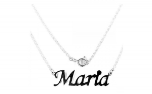 Colier argint 925 rodiat cu numele Maria
