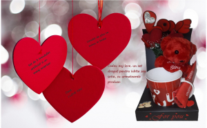 Set Valentine's Day si Dragobete, Ziua indragostitilor, Decoratiuni