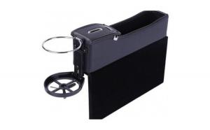 Cutie Organizatoare Scaun Auto Neagra din Piele  Depozitare Obiecte