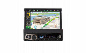 Radio Mp5 Player M706L 1DIN Ecran Retractabil cu GPS in limba Romana,Bluetooth, USB, AUX, Card 16GB cu Harti inclus