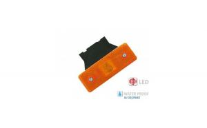 Lampa laterala galbena cu suport 4 LED 12v-24v  YP24