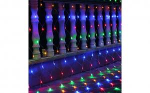 Instalatie de Craciun tip plasa multicolora 2.3 m X 2.3 m