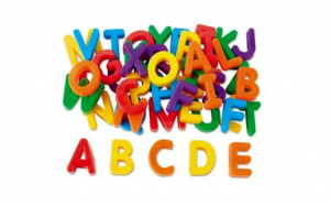 Set litere magnetice - multicolor