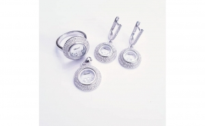 Set bijuterii din argint - model Chopard