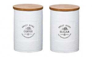 Set 2 recipiente ceramic zahar + cafea