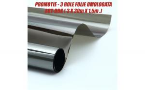 PROMOTIE 3 ROLE Folie omologata DRK ( 3 x 30m X 1.5m. )