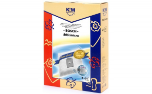 Sac aspirator pentru Bosch Siemens typ K, sintetic, 4 X saci, KM