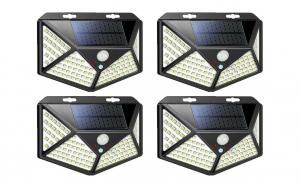 Set 4 lampi cu incarcare solara, senzor