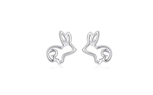 Cercei din argint 925 Sketch Rabbit Bunny