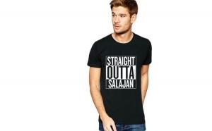Tricou negru barbati - Straight Outta Salajan