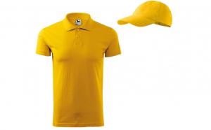 Tricou polo pentru barbati - din Bumbac 100% + sapca