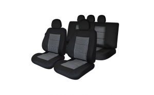 Huse scaune auto compatibile DACIA Duster II 2017-prezent PLUX (Negru UMB1)