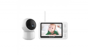 Baby monitor SM956, Display TFT 5 inch, Raza actiune 100 m,  Rotire orizontala 355     verticala 55  , Night Vision, Comunicare bidirectionala, Cantece leagan, Monitorizare temperatura, Smartic  , alb