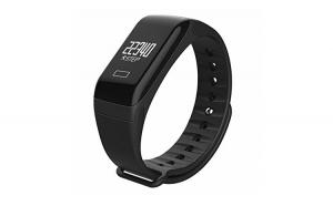 Bratara fitness RoHS, Monitor HR, Negru, senzor de masurare de batai ale inimii, pasii facuti, waterproof