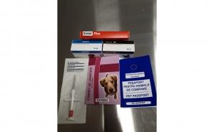 Pachet de: vaccinare anuala caine (polivalent cu antirabic), microcipare, pasaport, deparazitare interna