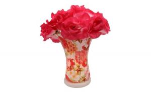Veioza din metal cu abajur floral,  35, Iluminare inteligenta
